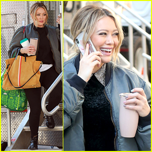 Hilary Duff is All Smiles While Filming 'Younger' in NYC
