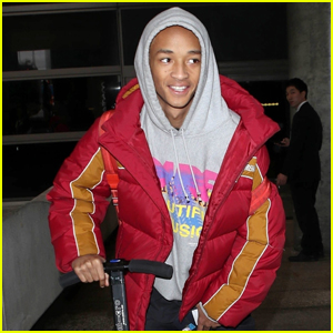 Jaden Smith Jets Home from Paris Fashion Week