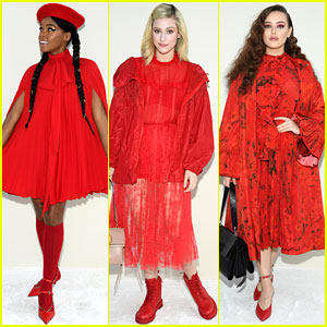 Janelle Monae, Lili Reinhart, Katherine Langford & More Are Ladies In Red at Valentino's Paris Fashion Week Presentation