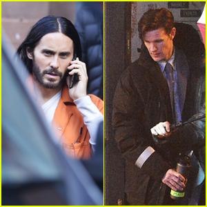 Jared Leto & Matt Smith Film 'Morbius' Scenes in Manchester