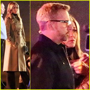 Jennifer Aniston Joins Steve Carell to Film Night Scenes for New Series!