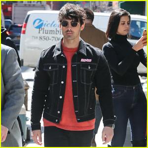 Joe Jonas Dons Red & Black Ensemble After 'Wonderwall' Joke