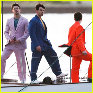 Nick, Joe, & Kevin Jonas Are Filming a Secret New Project - See the Photos