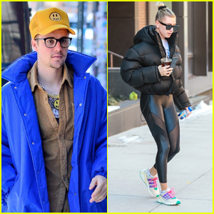 Justin & Hailey Bieber Head Out to Run Morning Errands in NYC