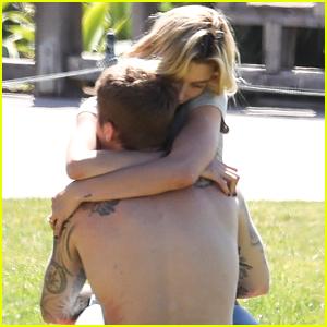 Hailey Bieber Lovingly Embraces Justin Bieber at Newport Beach