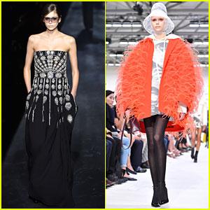 Kaia Gerber Transforms For Givenchy & Valentino at Paris Fashion Week