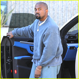 Kanye West Keeps It Casual on His Way to the Studio