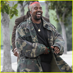 Kanye West Is All Smiles Heading to the Studio!