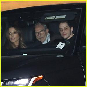 Kate Beckinsale & Pete Davidson Have Dinner with Her Mom & Stepdad