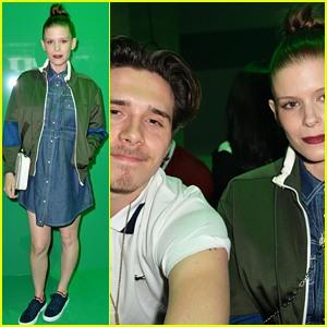 Pregnant Kate Mara Joins Brooklyn Beckham at Lacoste Show in Paris