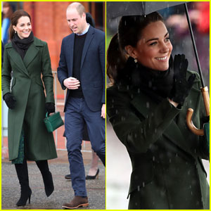 Kate Middleton & Prince William Brave the Rainy Weather in Blackpool