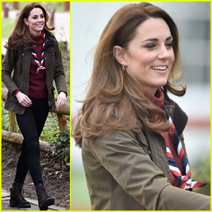 Kate Middleton Visits the Scouts' Headquarters Outside of London!