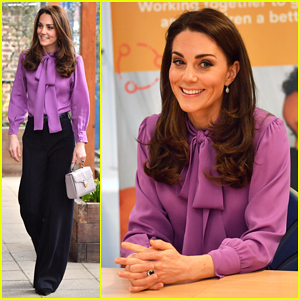 Kate Middleton Steps Out Solo for Henry Fawcett Children's Centre Visit!