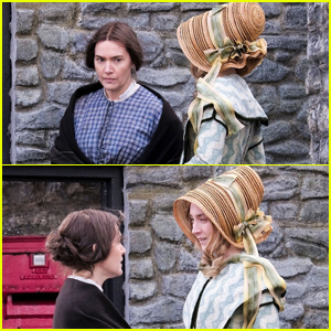 Kate Winslet Looks Unrecognizable While Filming 'Ammonite' With Saoirse Ronan