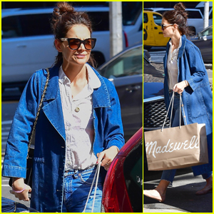 Katie Holmes Goes on a Madewell Shopping Spree in New York City