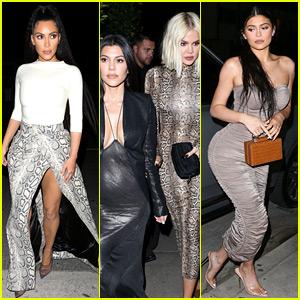 Kim, Kourtney & Khloe Kardashian Grab Dinner with Kylie Jenner in L.A.