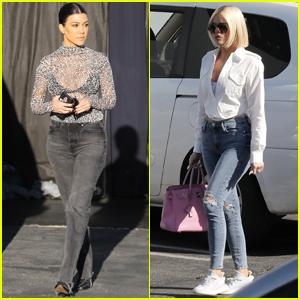 Kourtney Kardashian Goes Sexy in Sheer While Filming 'KUWTK'