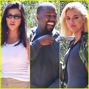 Kourtney & Khloe Kardashian Attend Kanye West's Church Service