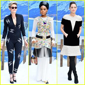 Kristen Stewart, Janelle Monae & Marion Cotillard Sit Front Row at Karl Lagerfeld's Final Chanel Show