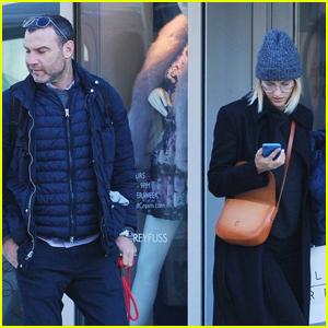 Liev Schreiber Spends the Day with Girlfriend Taylor Neisen in NYC