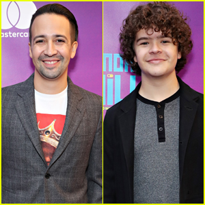 Lin-Manuel Miranda & Gaten Matarazzo Step Out for 'Be More Chill' Opening Night
