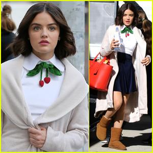 Lucy Hale Begins Filming 'Katy Keene' in NYC!