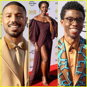 Lupita Nyong'o Joins Michael B. Jordan & Chadwick Boseman at NAACP Image Awards 2019
