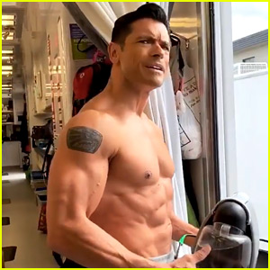 Mark Consuelos Shows Off Ripped Body Again on KJ Apa's Instagram!