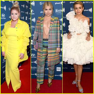 Meghan Trainor, Hayley Kiyoko, & Josie Totah Go Glam for GLAAD Media Awards 2019