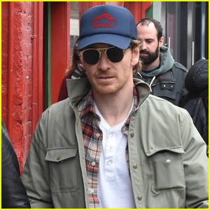 Michael Fassbender Hangs Out with Friends in Dublin