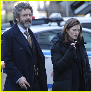 Michael Sheen & Rose Leslie Get to Work Filming 'The Good Fight'