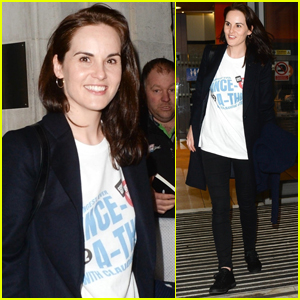 Michelle Dockery Hosts Comic Relief Dance-a-thon in London!