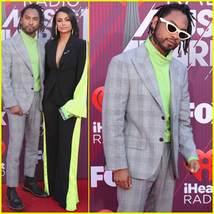 Miguel & Wife Nazanin Mandi Couple Up at iHeartRadio Music Awards 2019