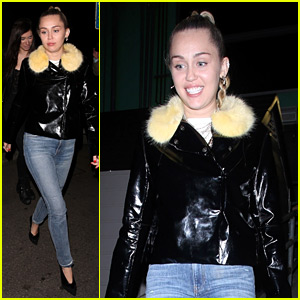 Miley Cyrus Has a Fun Night Out at TomTom Bar