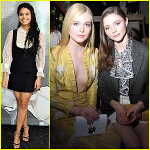 Elle Fanning, Zazie Beetz, & More Attend Miu Miu's Paris Show!