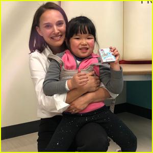 Natalie Portman Visits Young Patients at Children's Hospital Los Angeles!