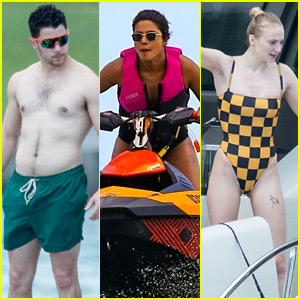 Jonas Brothers, Priyanka Chopra, & Sophie Turner Bare Their Hot Bodies in Miami!
