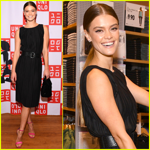 Nina Agdal Attends Opening of Uniqlo at Hudson Yards in NYC