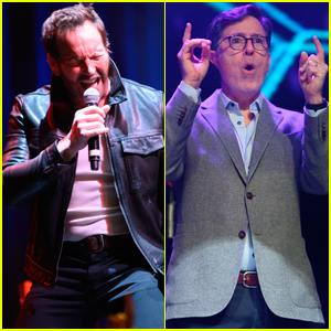 Patrick Wilson & Stephen Colbert Rock Out at Glitter Ball in Montclair!