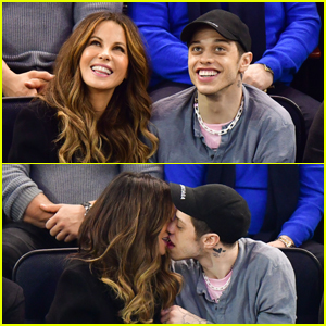 Pete Davidson & Kate Beckinsale Pack on the PDA at Hockey Game!