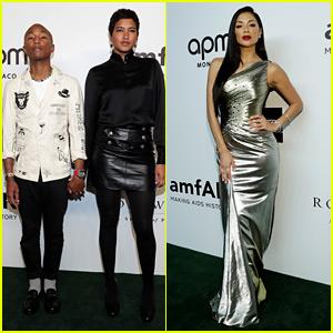 Pharrell Williams & Nicole Scherzinger Step Out in Hong Kong for amfAR Gala!
