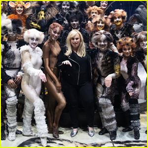 Rebel Wilson Surprise Visits 'Cats' Cast in Hollywood!