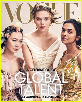 Scarlett Johansson Covers 'Vogue' with Women Representing Global Talent!