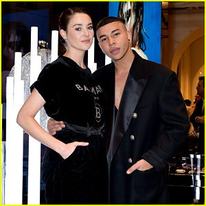 Shailene Woodley Joins Olivier Rousteing at Balmain Store Opening in Paris