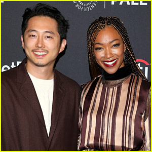 Walking Dead's Sonequa Martin-Green & Steven Yeun Reunite!