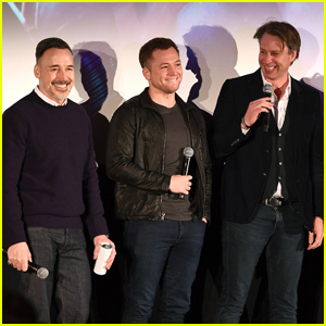 Taron Egerton Gives Sneak Preview of 'Rocketman' in London!