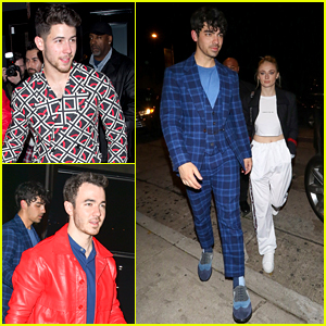 Jonas Brothers & Sophie Turner Step Out for Dinner at Craig's