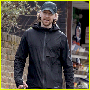Tom Hiddleston Goes on a Walk With His Dog in London