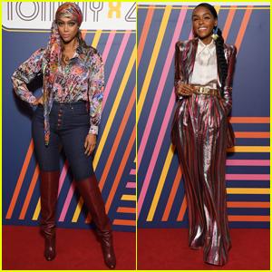 Tyra Banks & Janelle Monae Go Retro for Tommy x Zendaya Fashion Show!