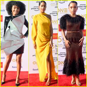 Yara Shahidi, Laura Harrier, & Logan Browning Go Glam for NAACP Image Awards 2019